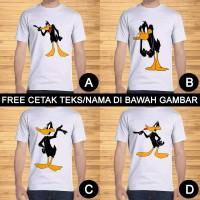 Kaos Dewasa Daffy Duck Pria Wanita Kartun Karakter Custom Teks/Nama