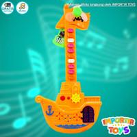 Mainan Gitar Listrik Anak Dengan Kipas Angin Yang Bisa Berputar - Orange