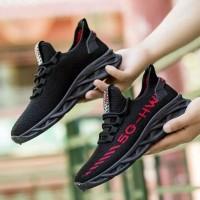 Sneaker Sepatu Olahraga Lari Sekolah Cowok Import Original