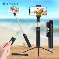 INBEX Tongsis Selfie Stick 3 in 1Wireless Tripod Bluetooth Remote