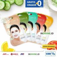 Ovale Facial Mask Masker Wajah Sachet Lemon Avocado Alpukat Cucumber