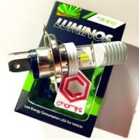 Lampu Depan LED H4 Hs1 Luminos 9nine MH1 2 sisi COB Terang