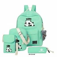 BRCCD Tas Ransel Backpack Sekolah Anak Perempuan Cewek 4 in 1 PANDA