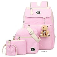 BRCCI Tas Ransel Backpack Sekolah Anak Perempuan Cewek 4 in 1