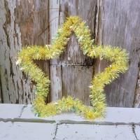 Krans Natal Bintang 20 cm/ Ornamen Pohon Natal/ Tinsel Star Slinger
