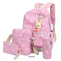 BRCXD Tas Ransel Backpack Sekolah Anak Perempuan Cewek 4 in 1