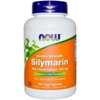 200 Caps Now Foods Silymarin double Strength Milk Thistle 300 Mg liver