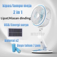 Multifungsi Kipas Lipat pengisian USB Lampu Meja/Kipas Angin Surya