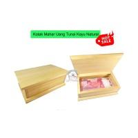 Kotak Mahar Uang Tunai Gift Box Tempat Hantaran Seserahan Pinewood