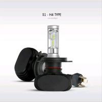 LAMPU H4 MOTOR MOBIL LED CSP S1 DUAL BEAM HI-LOW PUTIH 6000K car