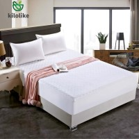 100% Cotton Quilted Fitted Mattress Pad Bed Cover, Size: 150 x 200cm