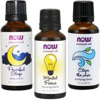Now Peaceful Sleep / Mental Focus / Clear Air 30ml Essential Oil Blend