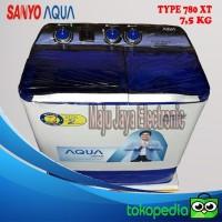 Mesin Cuci 2 Tabung Sanyo Aqua 780 7.5 kg Hijab Series
