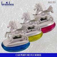 Parfum Mobil Fly Horse Chrome Pajangan Mobil Hiasan Mobil Pewangi Mobi