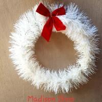 Krans Natal Putih Murah Sale Dekorasi Hiasan Natal Pita Putih Natal