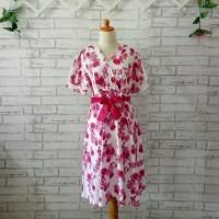 dress wanita import pink big size XXL/dress import wanita jumbo 2L