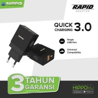 Hippo Adapter Charger RAPID Quick Charging 3.0 Max Out Put 18W