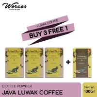WORCAS Java Luwak Coffee 100gr   Coffee Powder