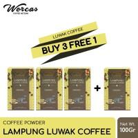 WORCAS Lampung Luwak Coffee 100gr   Coffee Powder