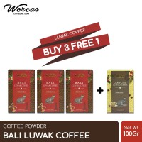 WORCAS Bali Luwak Coffee 100gr   Coffee Powder