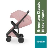 Greentom Classic Set : Black Frame + Seat / Stroller - Olive