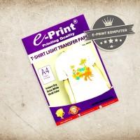 Kertas Transfer Sablon Kaos Transfer Paper Light T-Shirt E-print A4