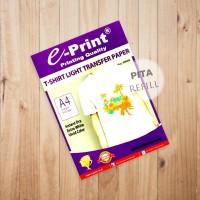 Kertas Sablon Kaos Transfer Paper Light T-Shirt E-print A4