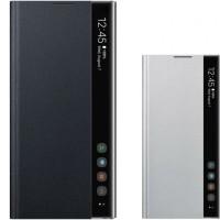 Samsung A51/A71 new FLIP COVER CLEAR VIEW DALAM SILICON MODEL ORI - Putih