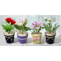 1 SET ISI 4 ANEKA Bunga plastik artificial bunga hias dekorasi A1-3