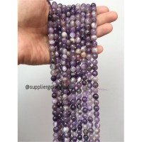 Batu kecubung brazil asli FACET 8mm CUTTING purple amethyst asli ungu