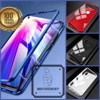 OPPO F11 PRO LUXURY MAGNETIC CASE TEMPERED GLASS BACK COVER