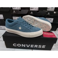 Sepatu Casual Converse Cons One Star Skate KeepLoving Teal Original
