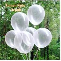 Balon Latex Transparan 12 Inch Tebal