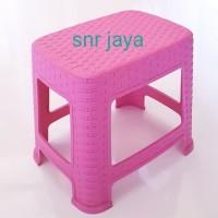 Bangku / Kursi Pendek Tanggung Plastik Model Anyam Rotan KHUSUS GOJEK