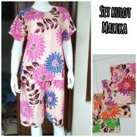 setelan kulot princes - setelan baju piyama batik wanita