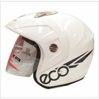 Helm Half Face GP ECO Solid White
