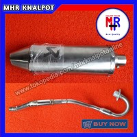 Knalpot Akrapovic Oval for KLX 150 S/L/BF, DTracker 150, Honda CRF