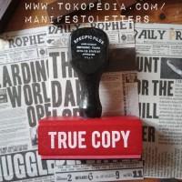 Wooden Stamp Handle TRUE COPY journaling stempel surat kayu karet mail