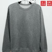 sweater pria anak laki laki UNIQLO grey original