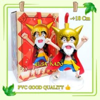 Anime Chibi One Piece Luffy Action Figure Lucy Wcf Anniversary 15th