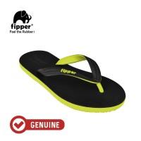 Fipper Black - M Series / Sandal Jepit Pria / Black Green Lime