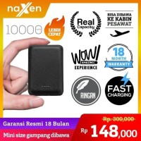 Naxen MiniBox PD26 Powerbank 10000mAh Dual Port Real Capacity - Biru M