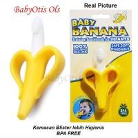 Sikat Gigi Bayi Baby Banana Tooth Brush Gigitan Teether