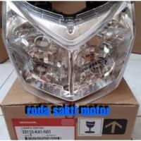 LAMPU DEPAN HEAD LIGHT UNIT HONDA NEW SUPRA X 125 FI ORIGINAL HONDA GE