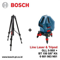"Line Laser Level BOSCH GLL 5-50 X + BT 150 Kit / 5-50X BT150 5/8"""