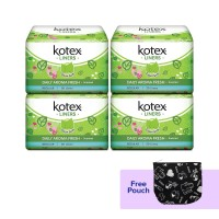Buy 4 Kotex Liners Daun Sirih 20s get Free Pouch