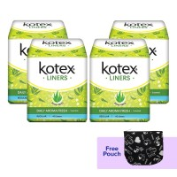 Buy 4 Kotex Liners Aloe Vera 40s get Free Pouch