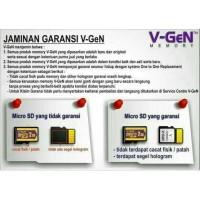 Termurah ! Memori /Memori Hp /Memory /Micro Sd 16Gb V-Gen Memory Card