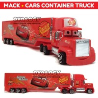 Mainan Anak Cowok Mobil Truk Mack Cars Container Truck Trailer