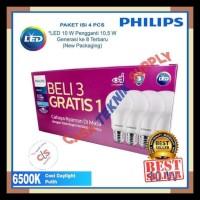 Pencahayaan - Lampu Led Bulb Philips 10-5W Paket 3 Free 1